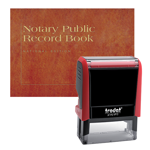Illinois Notary Supplies Value Package - Includes Trodat P4 Notary Stamp