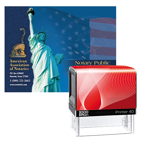 Illinois Notary Supplies Value Package - Includes Cosco Notary Stamp