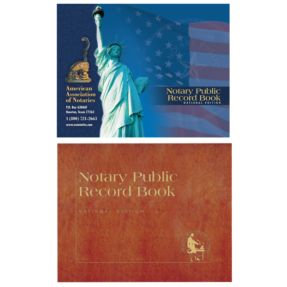 Illinois Notary Public Record Book - (448 entries with thumbprint space)