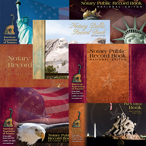 Illinois Notary Public Record Book - (352 entries with thumbprint space)