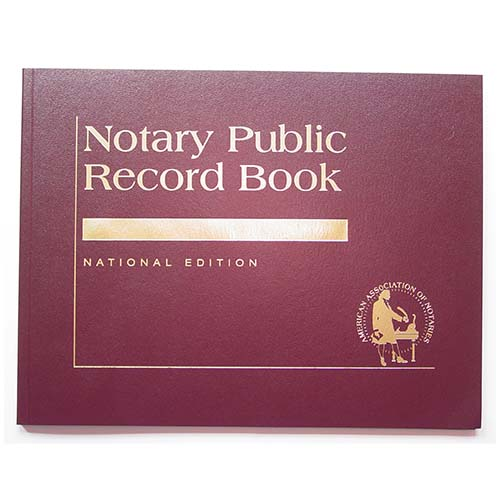 Illinois Contemporary Notary Public Record Book - (with thumbprint space)